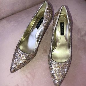 WHBM sequined 2 1/2 inch pumps. Size 8